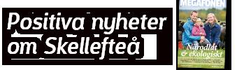 Positiva nyheter om Skellefteå